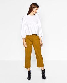 裾フリル付きトップス-長袖-Tシャツ-レディ-ス   ZARA 日本