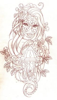 Day of the dead lantern by Nevermore-Ink on deviantART