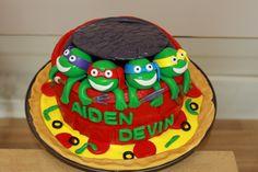 TMNT cake, Ninja turtles cake Tmnt Cake, Theme Cakes, Cake Face, Childrens Party, Ninja Turtles, How To Make Cake, Birthday, Desserts, Fun