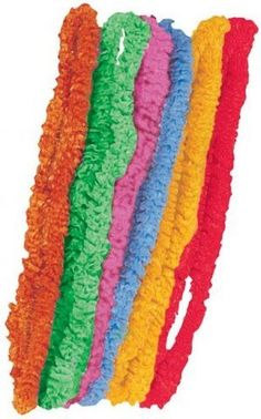 50 Assorted Colour Poly Leis