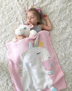 Handmade Unicorn Knit Pastel Color Blanket For Baby Kids – Delite Shopping So Cute Baby, Cute Babies, Baby Kids, Warm Blankets, Knitted Blankets, Baby Sleeping Blanket, Bunny Blanket, Baby Swaddle Blankets, Baby Warmer