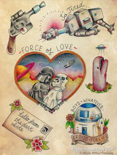 I figured I would re-post my Star Wars flash as an individual post now that TFA is out. Cute Tattoos, Tatoos, Star Wars Tattoo, Makeup Tattoos, Shirt Embroidery, Make Your Mark, Body Mods, Traditional Art, Tattoo Inspiration