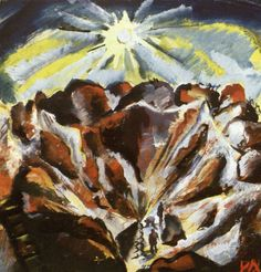 OTTO DIX Shell Craters with Tracer Flares (1917)