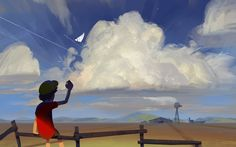 Virtual Pleinair - Paperplane, Sergei Ryzhov on ArtStation at https://www.artstation.com/artwork/8mOd6