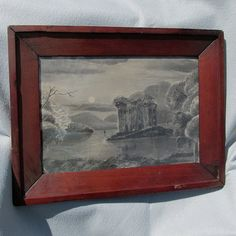 Ethereal Landscape Folk Art Sandpaper Charcoal by Neatcurios