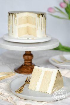 white cake recipe + tutorial (classic) | Sugar Geek Show