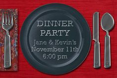 Dinner Party By the Enrollment Team Dinner Party Invitations, Etsy Store, Party Ideas, Street, Roads, Ideas Party