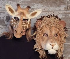 "Make captivating animal masks that are wearable art! They can be made for children or adults. When not in use they may be displayed on a stand or hung on the wall. From the book ""Needle Felting Masks and Finger Puppets"" by Terese Cato."