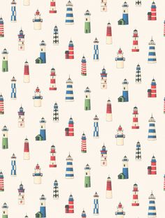 Thibaut's Lighthouse is taken from the Classic Thibaut wallpaper collection and is in stock and available for purchase.