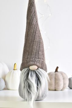 *ONLY ONE AVAILABLE* This taupe and grey colored sweater hat Nordic Gnome® gnome is one-of-a-kind treasure made with recycled sweater hat. This listing is for one LARGE size Scandinavian Gnome: Christmas Elf, Christmas Ideas, Christmas Crafts, Christmas Decorations, Gnome Ornaments, Pastel House, Scandinavian Gnomes, Nordic Home, Craft Day