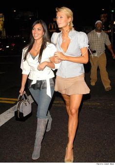 Kim Kardashian and Paris Hilton   Is Paris Hilton Taking Credit for Kim Kardashian's Fame?