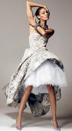 Joan Smalls in Giles  | Photo by Cuneyt Akerogl | Vogue Turkey December 2012