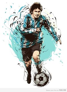 Recent Works - 2010 by Cristiano Siqueira, via Behance Messi - fooball player Messi Argentina, Argentina Soccer, Soccer Art, Football Art, Soccer Poster, Messi Poster, Sports Art, Kids Sports, Fifa