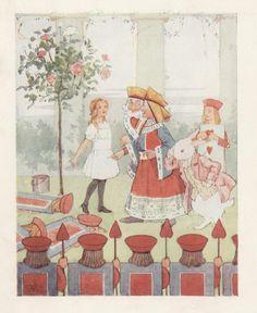Vintage illustration of Alice in Wonderland.