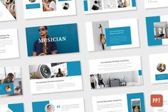 Powerpoint Version : --- MUSICIAN is a simple and minimalist presentation that we created with a purpose to be appropriate in the music industry. Powerpoint Design Templates, Professional Powerpoint Templates, Keynote Template, Ppt Design, Best Presentation Templates, Great Presentations, Free Web Fonts, Music Industry, Playlist Music