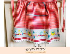 Marks & Spencer: Vintage M&S Apron - Sewing Theme 1960s - Stunning (£14.75)