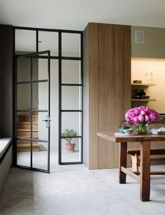 Glass Door. Wall. Steel Frame. Design. Decor. Home.