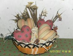 Primitive Country Heart Tucks Bowl Fillers  by NorthWoodsRustics, $12.00