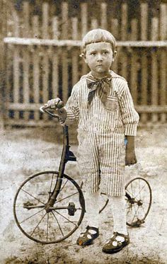 A boy & his #bike                                                 #vintagecycles #cycling