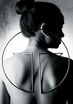 Geometric Jewellery with a sculptural design inspired by mysticism & the solar s...