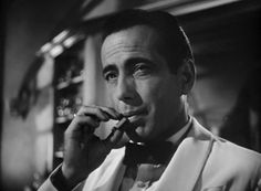 """Rick Blaine played by Humphrey Bogart in """"Casablanca"""" Rick Blaine, Casablanca Movie, Casablanca 1942, Casablanca Quotes, Hollywood Stars, Classic Hollywood, Old Hollywood, Hollywood Icons, George Peppard"""