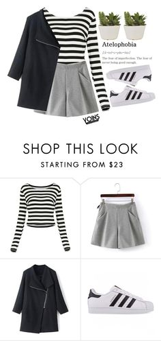 """""""#Yoins"""" by credentovideos ❤ liked on Polyvore featuring adidas Originals"""