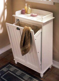 1000 images about laundry ideas on pinterest hampers - Diy tilt out hamper ...