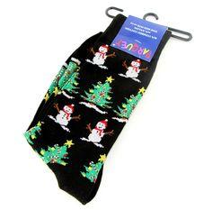 Christmas Mens Socks Novelty Fun Black Dress Casual Fashion Holiday Gift Him New #Parquet #Novelty