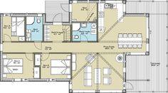 Trolltinden - Tinde Hytter Floor Plans, Patio, Floor Plan Drawing, House Floor Plans
