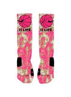Basketball Custom Nike Elites Socks Basketball by NikkisNameGifts, $25.00 #ESCHERPE #SCARVES