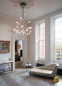 Consider leaving the north windows bare or only covering the bottom half of windows. Kensington, London, UK - contemporary - Hall - London - Morph Interior Ltd