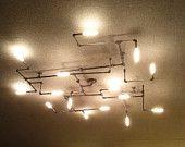Hex-Branch Pipe Light Chandelier 1.0 von MESHarchitectures auf Etsy