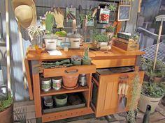 designer potting bench