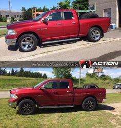 2012 2016 Ram 1500 2 5 inch Leveling Kit by Rough Country www     Before After Ram 1500 2 5  Leveling kit from ReadyLift Suspension Inc  35   BFG KO2 Tries 20  Fuel Wheels  ProfessionalGradeInstallation