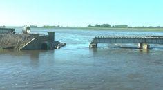 CRÓNICA FERROVIARIA: Línea Sarmiento: Retiraron una parte del puente de...