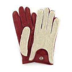 The Heritage - Driving Gloves - Stringback Crimson