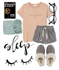 """""""Good night!"""" by jadenriley21 on Polyvore featuring MANGO, H&M, Surya, UGG and Lenny"""