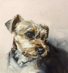 Boarder Terrier by Julie Brunn - sold