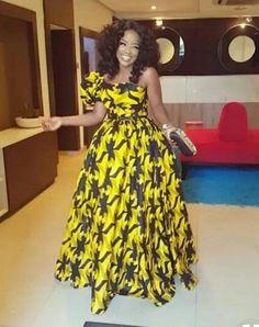 Yellow African Print Dress/Yellow Ankara Dress/African Clothing/African Dress/African Fabric Dress/A African Maxi Dresses, African Dresses For Women, African Attire, African Wear, African Women, Women's Dresses, African Style, Ankara Gowns, African Outfits