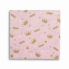 Sweet Princess Napkins with gold foil crown accents. Perfect for your princess party! Princess Party Supplies, Princess Party Decorations, Princess Theme Party, Baby Shower Princess, Princess Birthday, Party Themes, Party Ideas, Party Napkins, Napkins Set