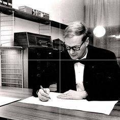 Nils Strinning was a Swedish architect and designer. Together with his wife Kajsa Strinning they invented the String bookshelf system for a competition for a library in 1949 that made them popular. They decided to invent two companies to build furnitures in a wide range scale.  #architect #atwork #design #sweden #stringsystem #kth #modernism #furniture #bookshelf  #scandinavian #scandinaviandesign #classic by desplans_arkitektur