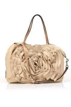 28c6a5d86d50 Valentino Large Cotton Rose Handbag in Brown - Beyond the Rack Valentino  Purse