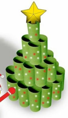 Výsledek obrázku pro juletræer i karton Christmas Tree Crafts, Christmas Themes, Christmas Decorations, Christmas Ornaments, Toilet Roll Art, Xmas Games, Diy And Crafts, Crafts For Kids, Bible School Crafts