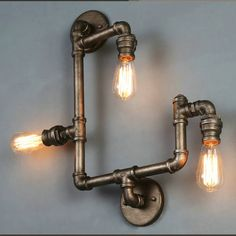 American Village Loft Industrial Edison Style Vintage Wall Light Lamp Retro Water Pipe Lamp Wall Sconce Free Shipping