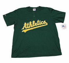 #Vintage Deadstock #1990s #90s #MLB #OaklandAs Jersey Shirt Made in USA #Mens #Sportswear Size Large