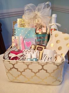 Engagement Gift Basket: Grits and Pearls