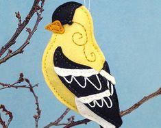 Patrón de costura de chickadee PDF  aves de por SquishyCuteDesigns