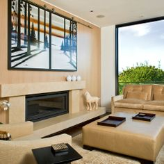 Hide Flat Screen Tv Behind Art Design Ideas, Pictures, Remodel and Decor