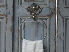 Chic-Antique-toallero-antiguo-plata-metal-Shabby-Brocante-vintage-decorativas