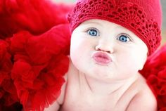 ♥ #red ~ They start out so early! Duckface